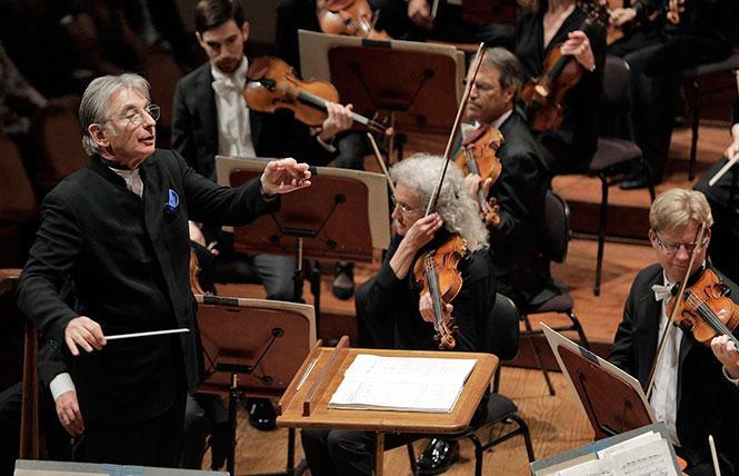 Michael Tilson Thomas leads the San Francisco Symphony in a Stravinsky Festival concert. Photo: Cory Weaver