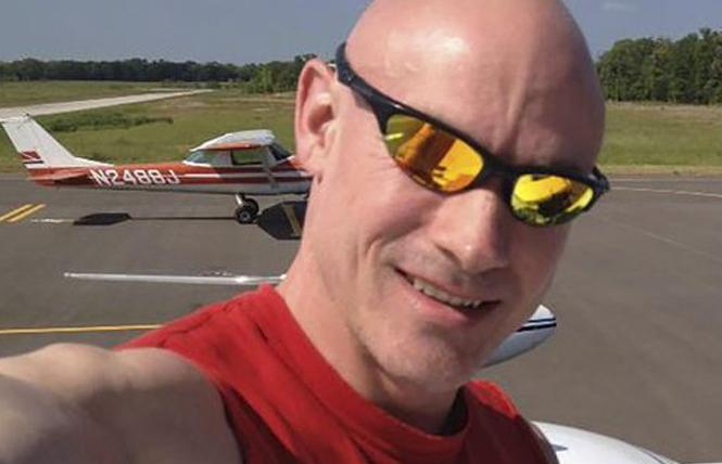 The sister of David Zarda, above, who died before his case was resolved, is fighting her late brother's firing from a recreational parachuting company.