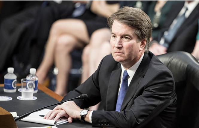 Judge Brett Kavanaugh, shown here at his first confirmation hearing in early September, was sworn in as the U.S. Supreme Court's newest associate justice Saturday. Photo: Rudy K. Lawidjaja