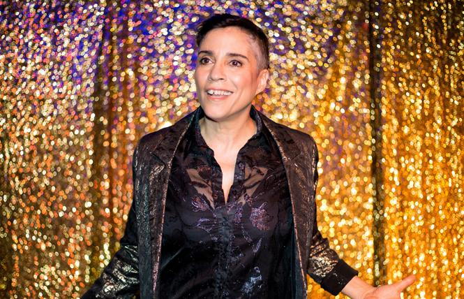 "Marga Gomez's ""Latin Standards,"" the loving, funny, and true story of life with her Cuban showman father, plays The Marsh Berkeley. Photo: Fabian Echevarria"
