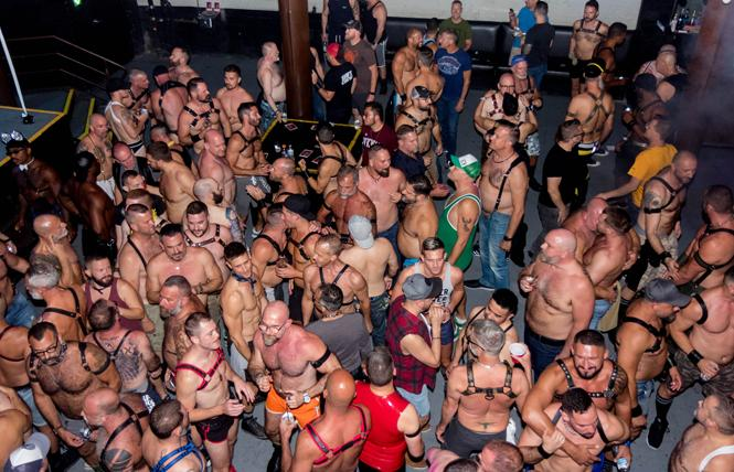 The dance floor of DNA Lounge at the annual Big Muscle dance. Photo: Rich Stadtmiller