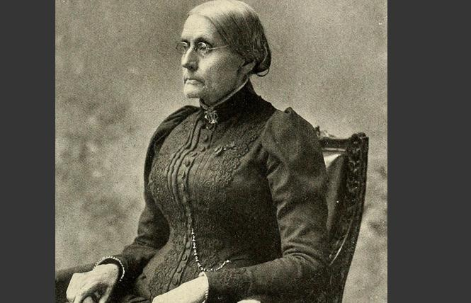 Women's rights advocate Susan B. Anthony. Photo: Courtesy Wikimedia Commons