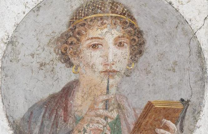 The poet Sappho. Photo: Courtesy Wikimedia Commons