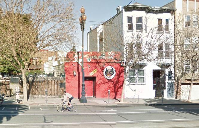 Housing is proposed to replace the Lucky 13 bar on upper Market Street in the Castro district. Photo: Courtesy Google