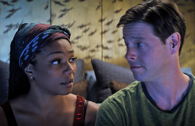 "Tiffany Haddish and Ike Barinholtz in ""The Oath."" Photo: Courtesy of Topic Studios and Roadside Attractions"