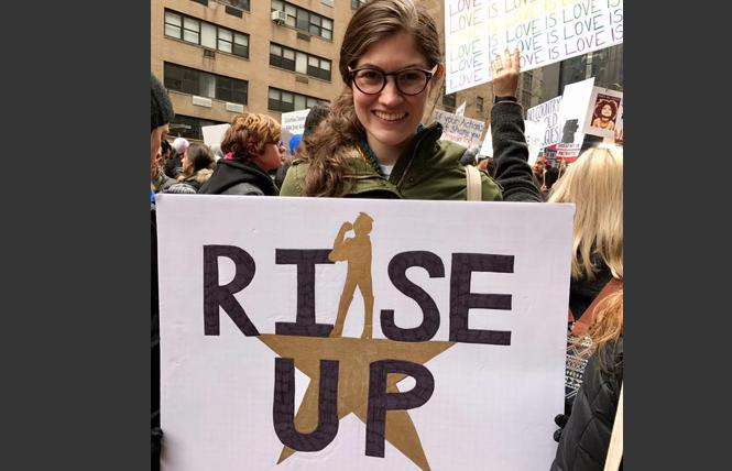 Author Camille Beredjick participated in the 2018 Women's March in New York City. Photo: Courtesy Camille Beredjick