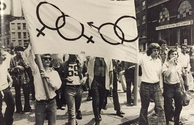 One of the first Gay Liberation Front marches was held in 1970.