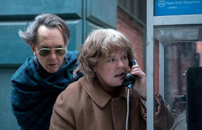 "ichard E. Grant and Melissa McCarthy in director Marielle Heller's ""Can You Ever Forgive Me?"" Photo: Fox Searchlight"