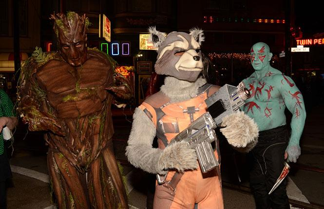 Guardians of the Galaxy cosplay cuties at last year's Halloween. Photo: Steven Underhill