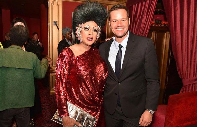Juanita MORE! and her Powerblouse crew will give District 6 Supervisor candidate Matt Haney (right) a drag makeover at The Powerhouse on Nov. 3. photo: Gooch
