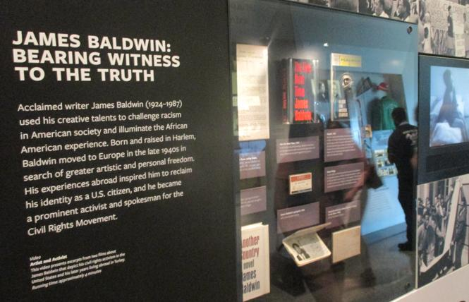 An exhibit on James Baldwin is featured at the African American Museum of History and Culture in Washington, D.C. but doesn't mention that he was a gay man. Photo: Ed Walsh
