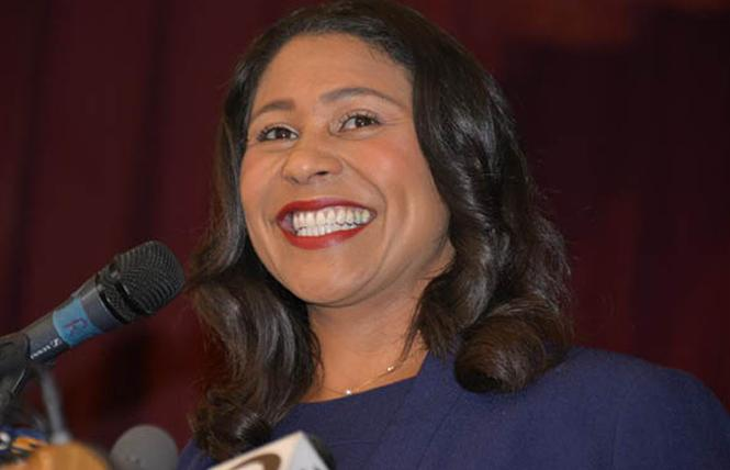 Mayor London Breed. Photo: Bill Wilson