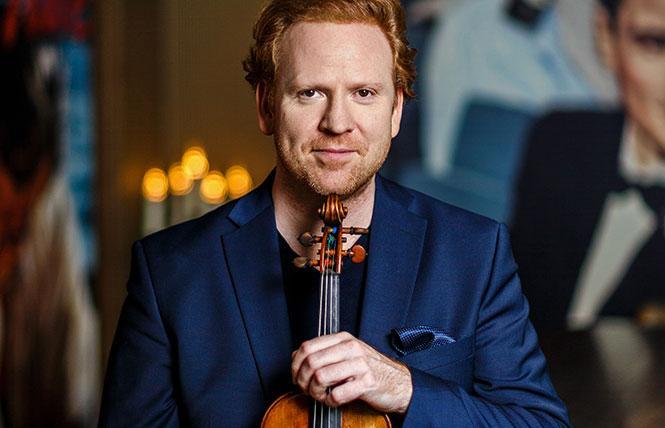 San Francisco Performances presented violinist Daniel Hope. Photo: Nicolas Zonvi