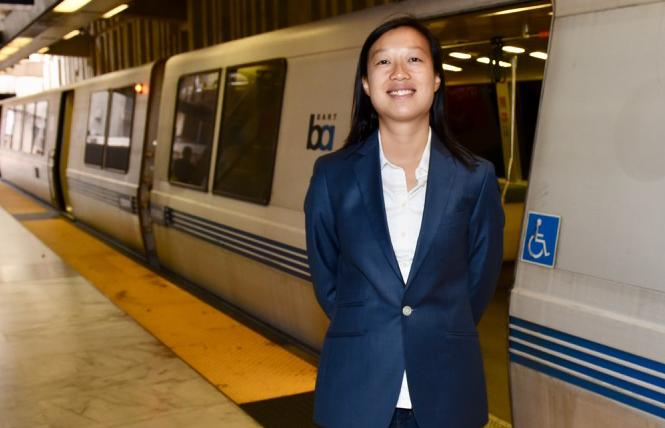 Janice Li is poised to become the first queer Asian woman to serve on the BART board. Photo: Steven Underhill