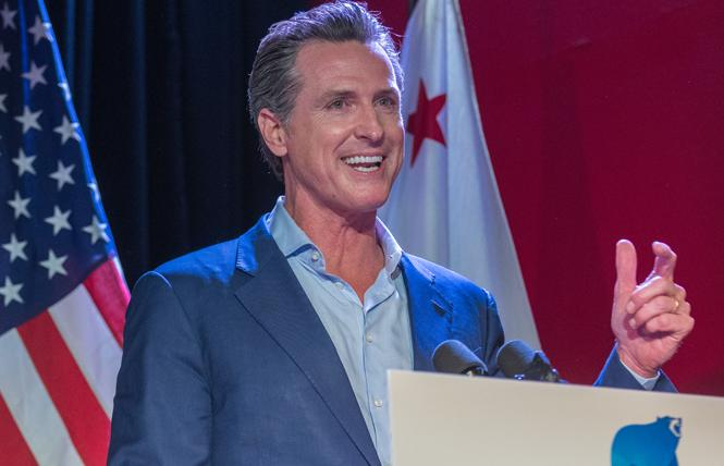 California Governor-elect Gavin Newsom spoke in San Francisco Monday night. Photo: Jane Philomen Cleland