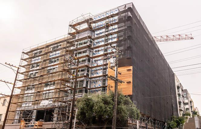 Construction of the 95 Laguna Street housing project is on schedule. Photo: Jane Philomen Cleland
