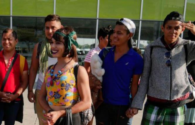 A caravan of mostly LGBT migrants from Central America arrived in Tijuana, Mexico Sunday, November 11. Photo: Courtesy of Intomore.com