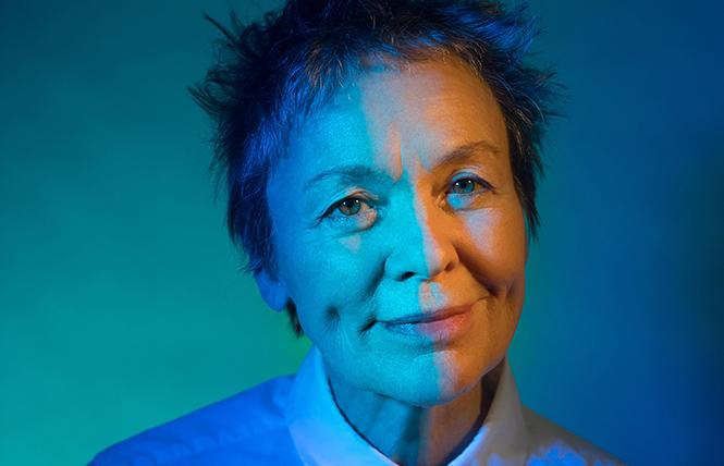 "Laurie Anderson: ""I'm still having a blast."" Photo: Ebru Yildiz"
