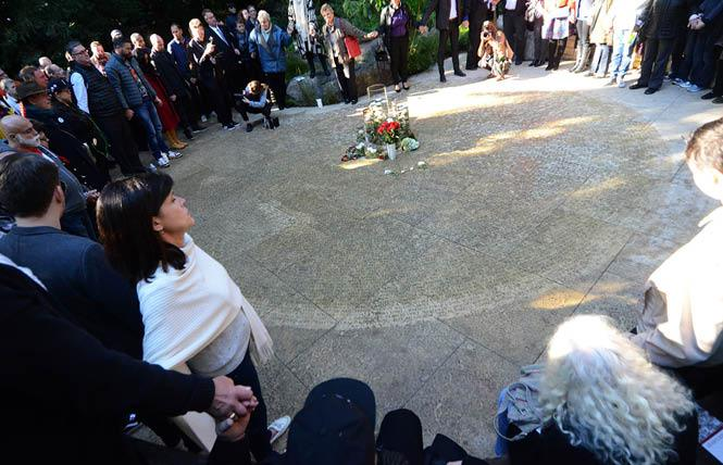 World AIDS Day was celebrated in the National AIDS Memorial Grove in Golden Gate Park in 2016 by the reading of names newly inscribed into the Circle Of Friends. Photo: Rick Gerharter
