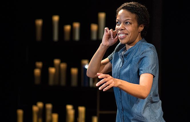"Award-winning writer-performer Nilaja Sun in the West Coast premiere of ""Pike St."" at Berkeley Rep. Photo: Teresa Castracane"