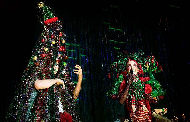 "Machine Dazzle and Taylor Mac in ""Taylor Mac's Holiday Sauce"" at the Curran. Photo: Little Fang Photography"