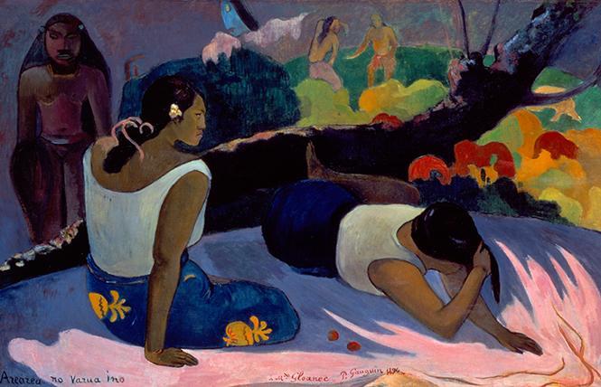 "Paul Gauguin, ""Reclining Tahitian Women"" (1894), oil on canvas. Ny Carlsberg Glyptotek, Copenhagen. Photo: Ole Haupt, courtesy FAMSF"