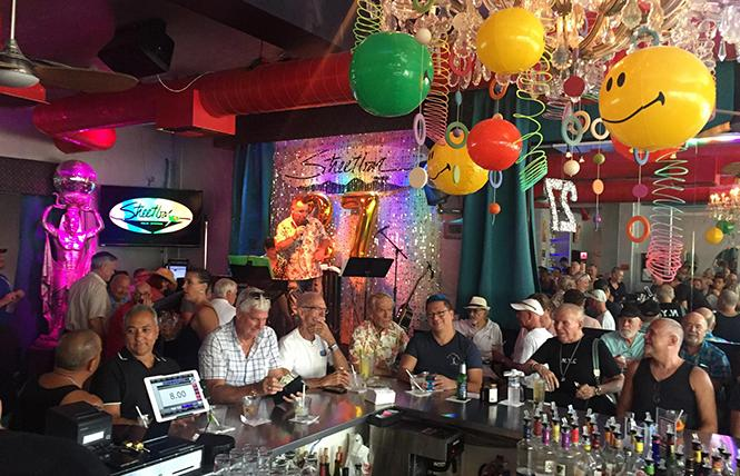 Streetbar, the Palm Springs historic gay tavern.