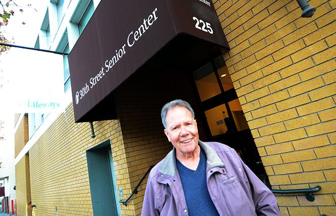 Ed Lehmann stands outside On Lok's 30th Street Senior Center, where he goes frequently for activities. Photo: Rick Gerharter