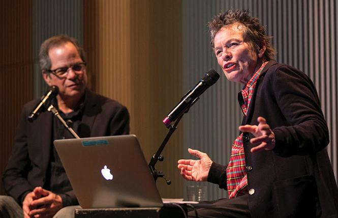 "SFJAZZ co-founder and artistic director Randall Kline hosted a ""Listening Party"" with Laurie Anderson last week. Photo: Scott Chernis"
