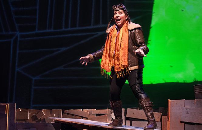 "Mezzo-soprano Eve Gigliotti as ""The Pilot"" in Opera Parallele's take on composer Rachel Portman's stage realization of Antoine de Saint-Exupery's novella ""The Little Prince."" Photo: Courtesy Opera Parallele"