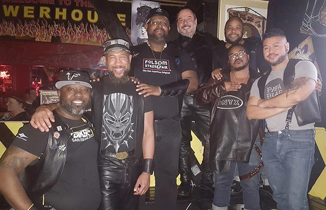 Some of the men of Onyx Northwest at their recent one-year anniversary celebration at the Powerhouse. photo: Race Bannon