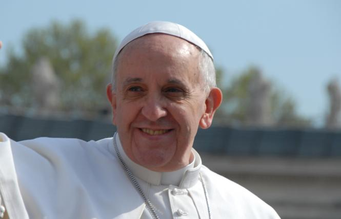 In a new book, Pope Francis says that gays are not welcome as clergy in the Roman Catholic Church. Photo: Bill Wilson