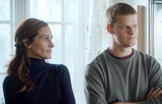 "Julia Roberts (Holly) and Lucas Hedges (Ben) in director Peter Hedges' ""Ben Is Back."" Photo: Roadside Attractions"