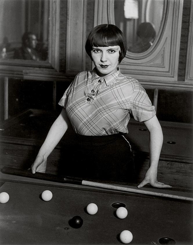 "Brassaï, ""Billiard Player, Boulevard de Rochechouart,"" 1932-33; Estate Brassaï Succession, Paris. Photo: Estate Brassaï Succession, Paris"