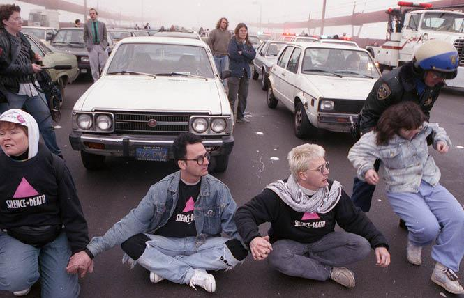 Stop AIDS Now or Else protesters blocked the Golden Gate Bridge in 1989. Photo: Rick Gerharter