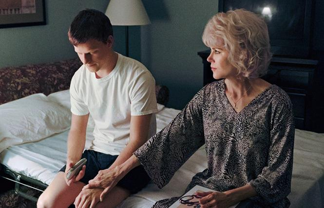"Lucas Hedges and Nicole Kidman in the ""ex-gay"" drama ""Boy Erased."" Photo: Focus Features"
