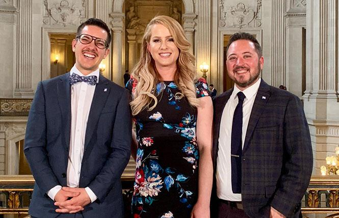 Pau Crego, left, Clair Farley, and Maceo Persson of the San Francisco Office of Transgender Initiatives have several projects lined up for 2019. Photo: Courtesy SF Office of Transgender Initiatives