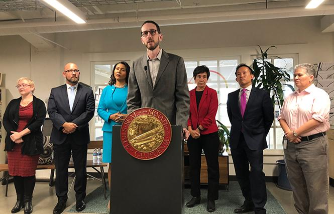 State Senator Scott Wiener spoke of the need for the safe injection site pilot program bill shortly before Governor Jerry Brown vetoed it. He plans to reintroduce it this year. Photo: Courtesy Senator Wiener's office