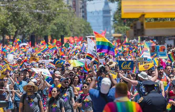June is now officially designated as Pride Month under a law signed last year by Governor Jerry Brown. Photo: Jane Philomen Cleland