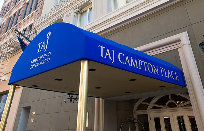 The Taj Campton Place is a small luxury hotel just a block from Union Square. Photo: Courtesy Taj Campton Place