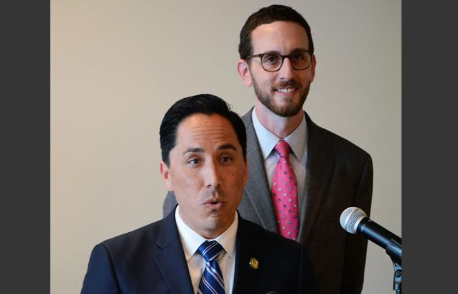 Legislative LGBT Caucus Vice Chair Todd Gloria and Chair Scott Wiener. Photo: Rick Gerharter