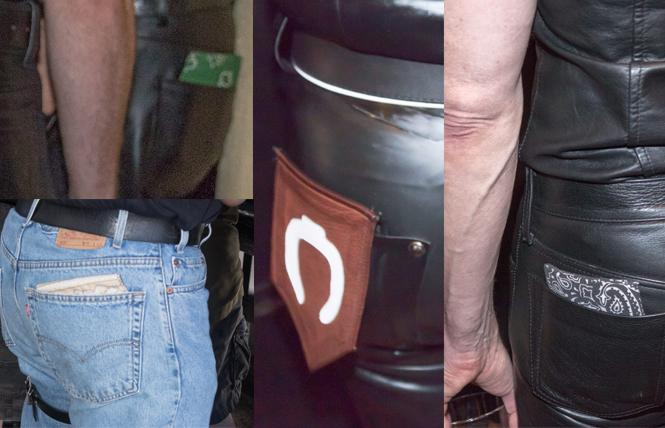 Various hankies in various back pockets. Who's a top? A bottom? Versatile? Photos: Rich Stadtmiller