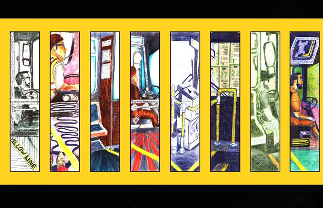 "A panel from Kurt Schwartzmann's ""Yellow Line"" exhibit. Art: Courtesy Kurt Schwartzmann"