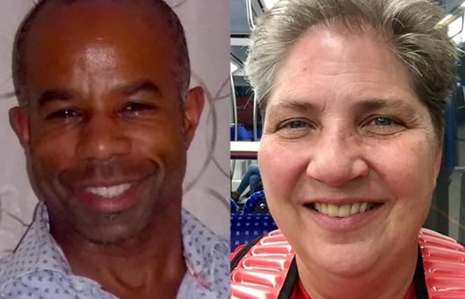 Gay Games Sports Officers Reggie Snowden, left, and Kimberly Hadley.