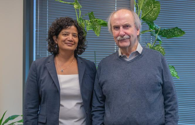 Shireen McSpadden, left, executive director of the San Francisco Department of Aging and Adult Services, stands with Tom Nolan, a manager of special projects of DAAS. Photo: Jane Philomen Cleland