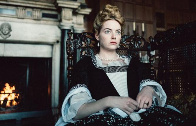 "Emma Stone in director Yorgos Lanthimos' ""The Favourite."" Photo: Fox Searchlight"
