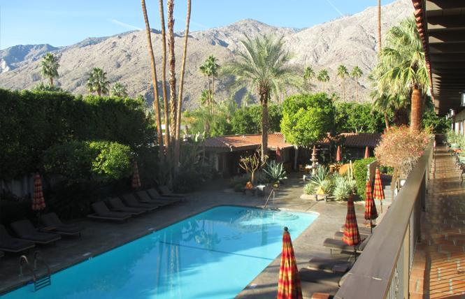 The Santiago Resort is one of 15 gay resorts in Palm Springs and offers amenities aimed at keeping guests happy. Photo: Ed Walsh