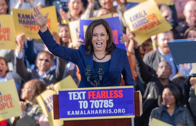 Democratic presidential candidate Senator Kamala Harris kicked off her campaign in Oakland January 27. Photo: Jane Philomen Cleland