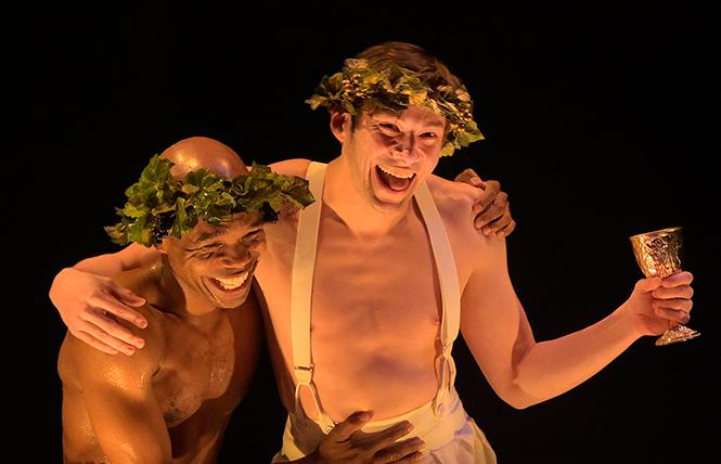 "Rodney Gardiner and Benjamin T. Ismail in ""Metamorphoses"" at Berkeley Rep. Photo: Kevin Berne/Berkeley Repertory Theatre"