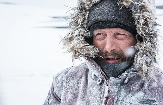 "Mads Mikkelsen stars as Overgård in ""Arctic."" Photo: Helen Sloan/Bleecker Street"